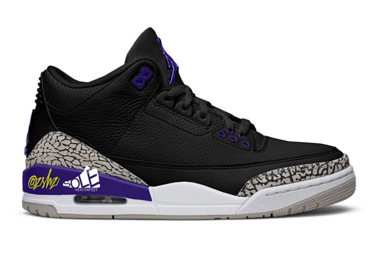 Air Jordan 3 Court Purple Shoes