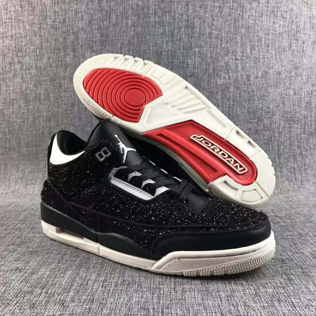 Air Jordan 3 Flyknit Black White Red Shoes