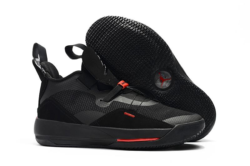 Air Jordan 33 All Black Orange Shoes