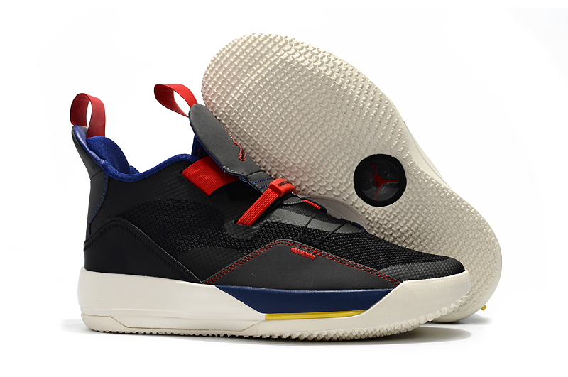 Air Jordan 33 Black Red Blue White Shoes