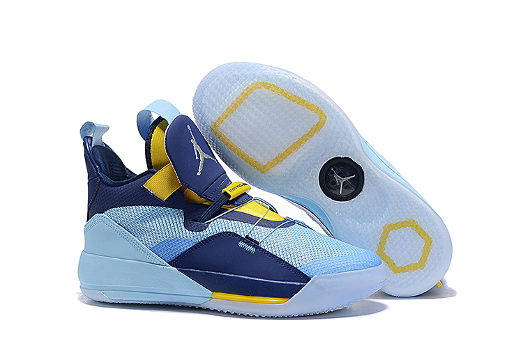 Air Jordan 33 Jade Blue Yellow Shoes