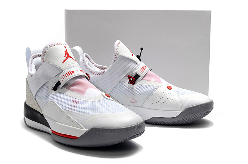 Air Jordan 33 Low White Red Black Shoes
