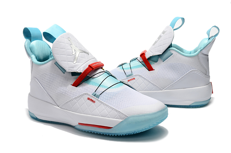 Air Jordan 33 White Gint Green Red Shoes