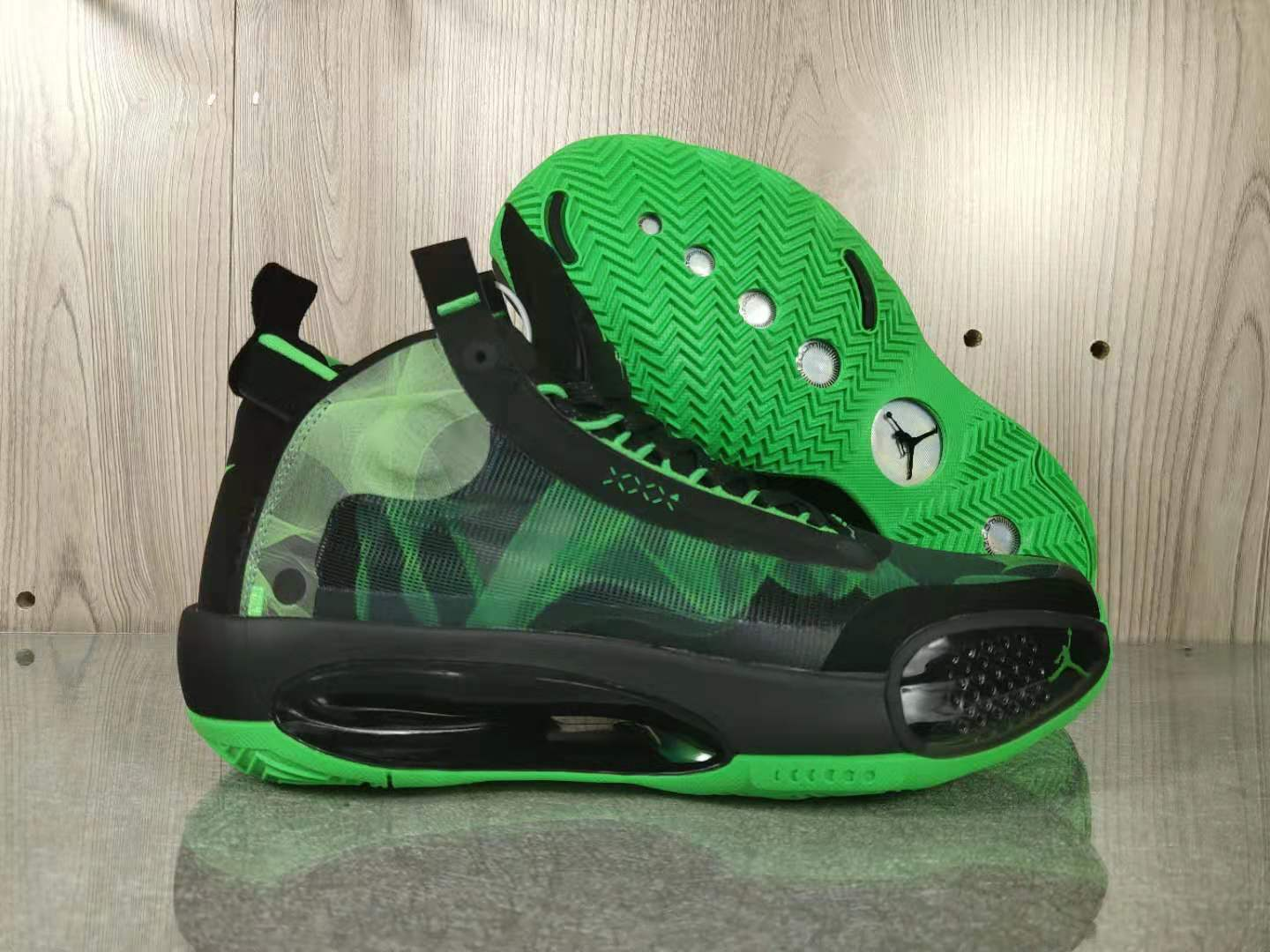 Air Jordan 34 Black Green Shoes