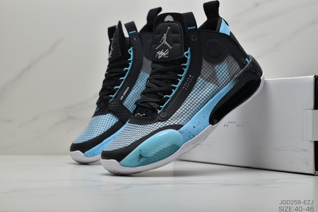 Air Jordan 34 Black Jade Blue Shoes
