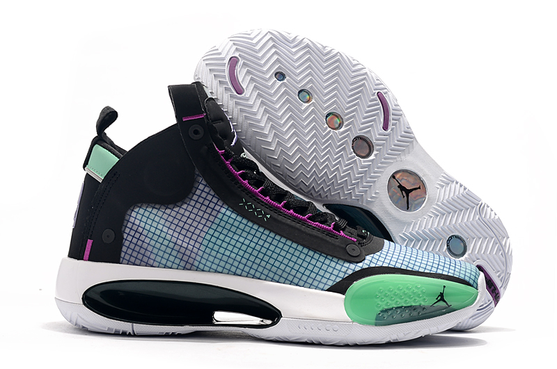 Air Jordan 34 Black Pink Green White Shoes