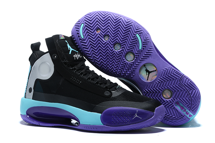 Air Jordan 34 Black Purple Jade Shoes
