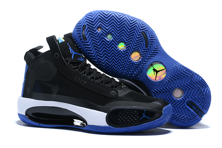 Air Jordan 34 Black Royal Blue Shoes