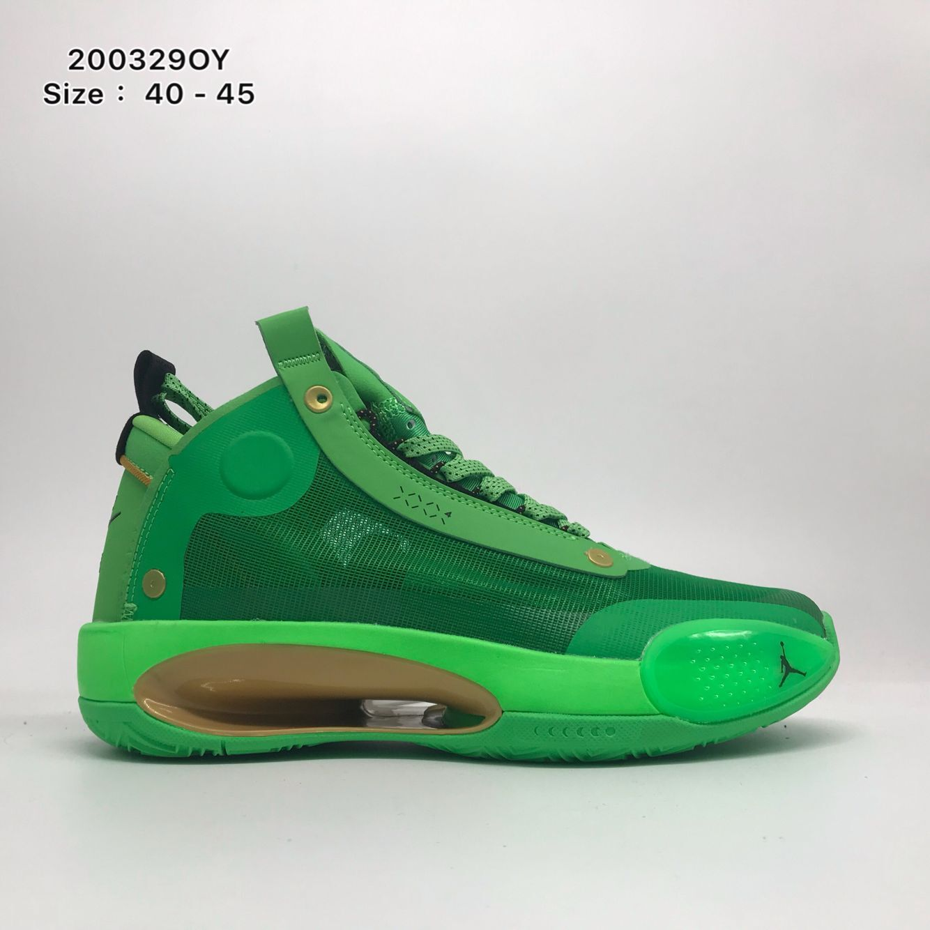 Air Jordan 34 Green Yellow Shoes