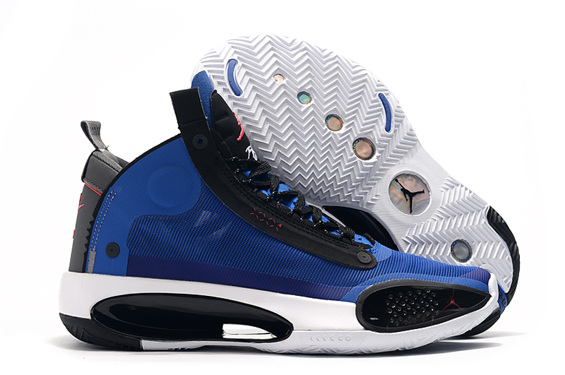 Air Jordan 34 Royal Blue Black White Shoes