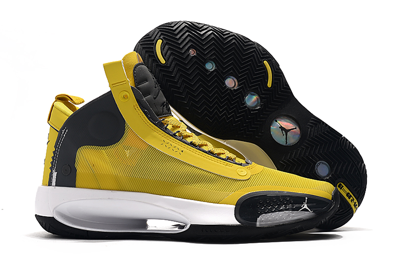 Air Jordan 34 Yellow Black White Shoes