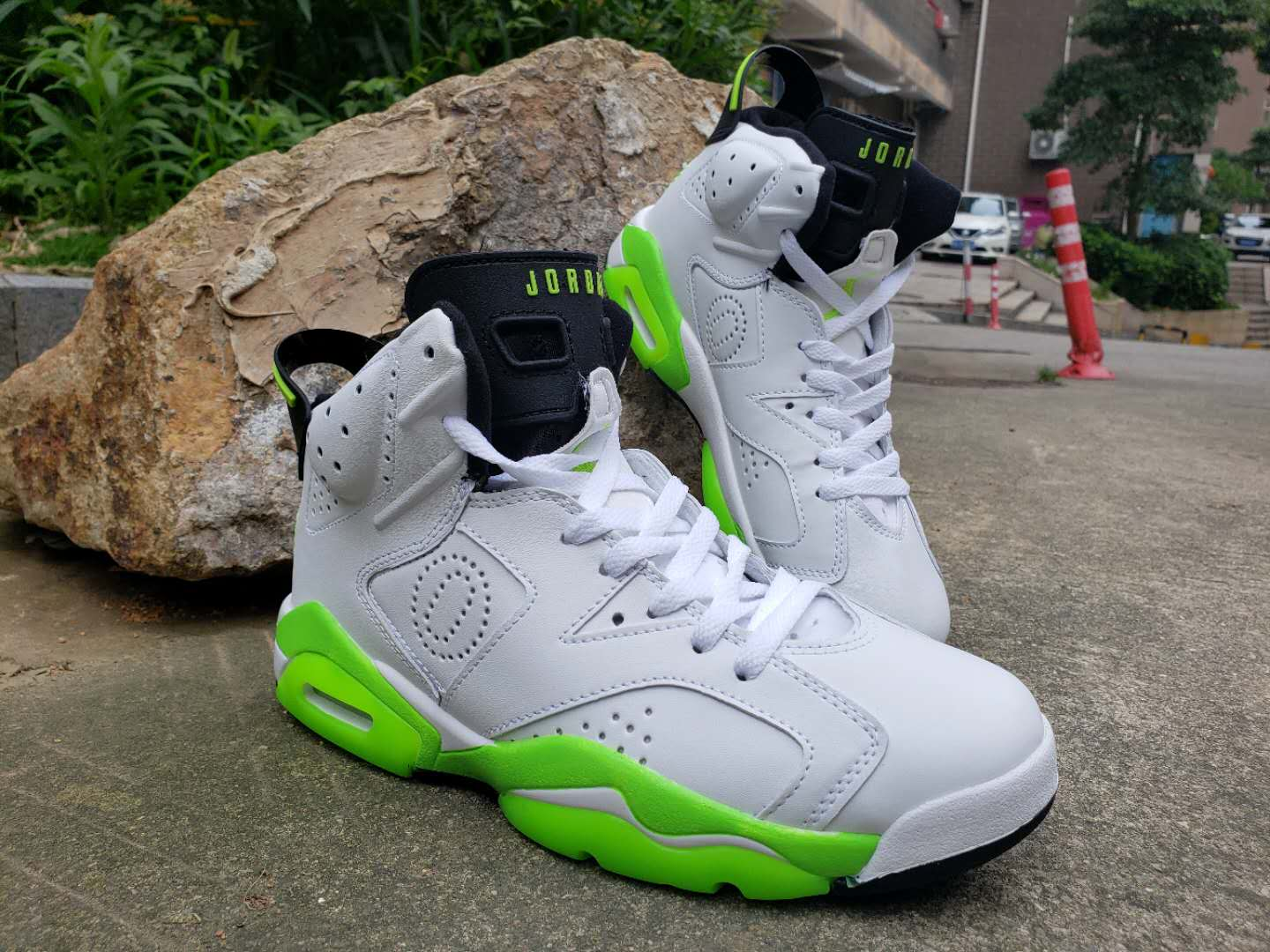 Air Jordan 6 Retro White Green Wing Shoes