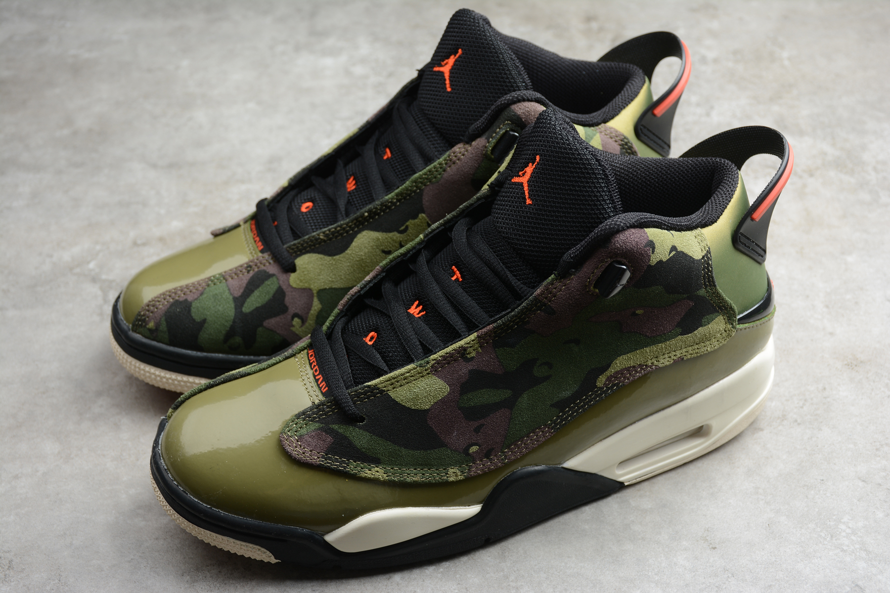 Air Jordan DUB Zero Army Green Black Red Shoes