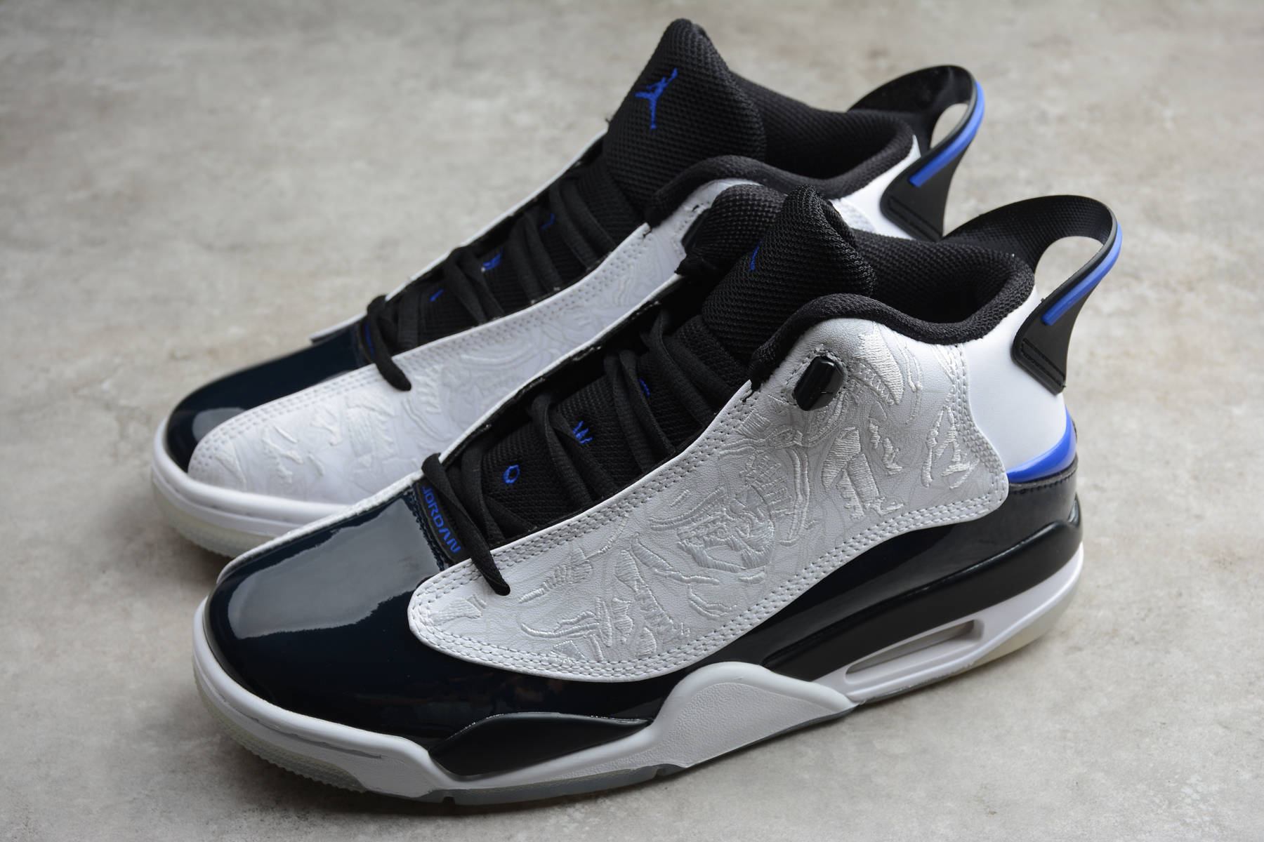 Air Jordan DUB Zero Black White Blue Shoes