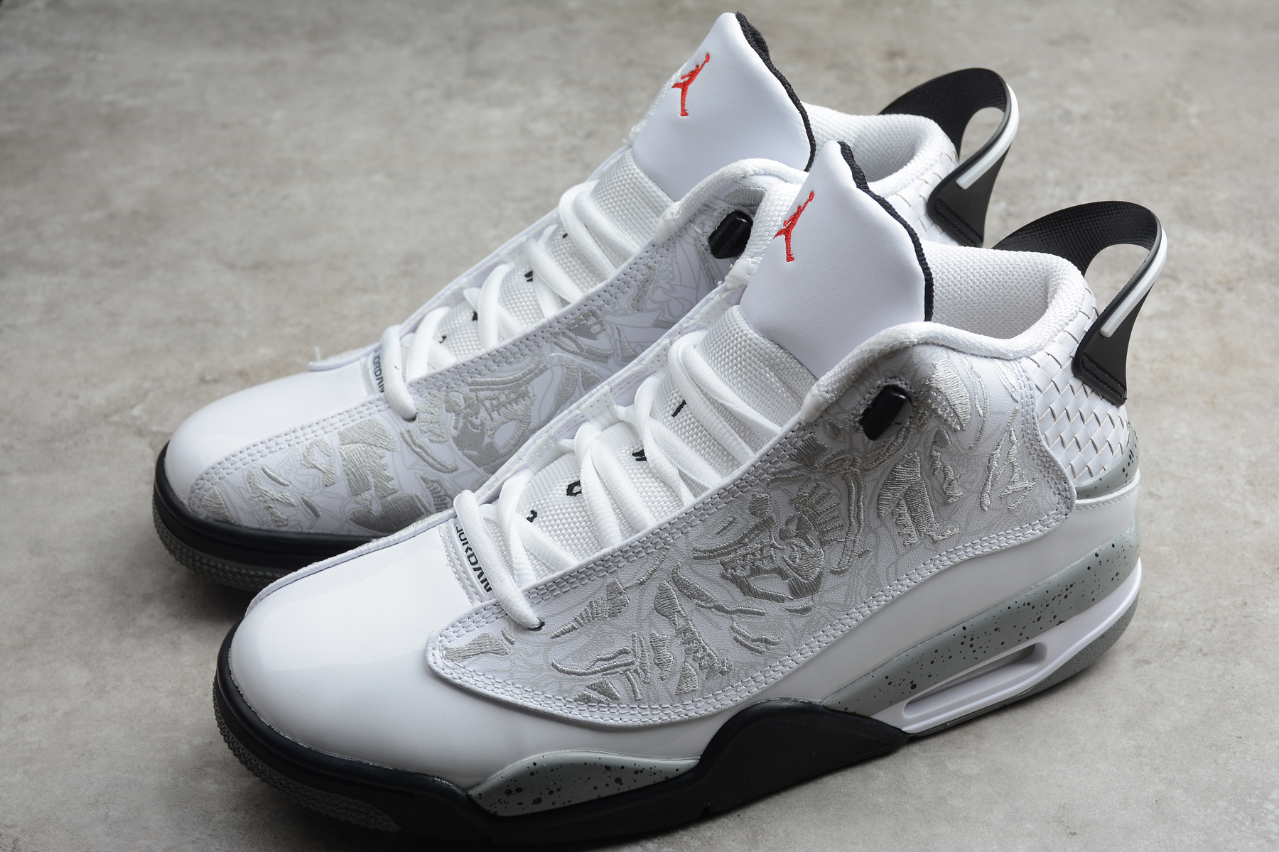 Air Jordan DUB Zero White Black Grey Shoes