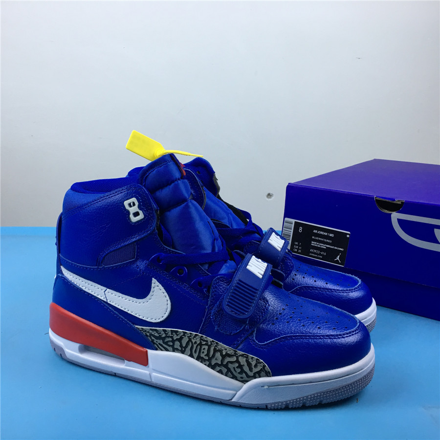 Air Jordan Legacy 312 Deep Blue White Red Shoes