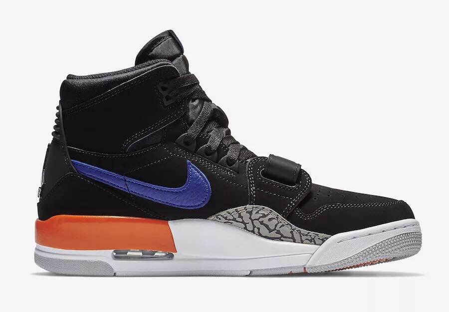 Air Jordan Legacy 312 NRG Black Cement Blue Orange Shoes