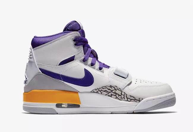 Air Jordan Legacy 312 NRG Purple White Cement Yellow Shoes