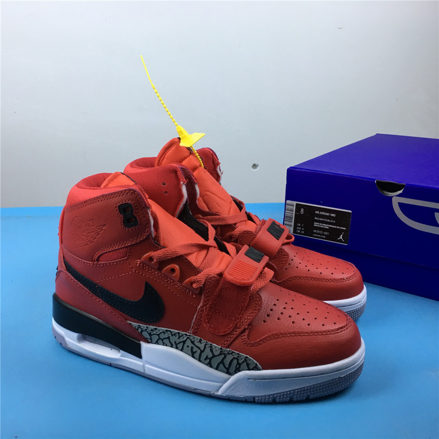 Air Jordan Legacy 312 Red Orange Black Shoes