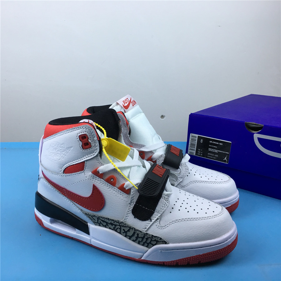Air Jordan Legacy 312 White Red Black Cement Shoes
