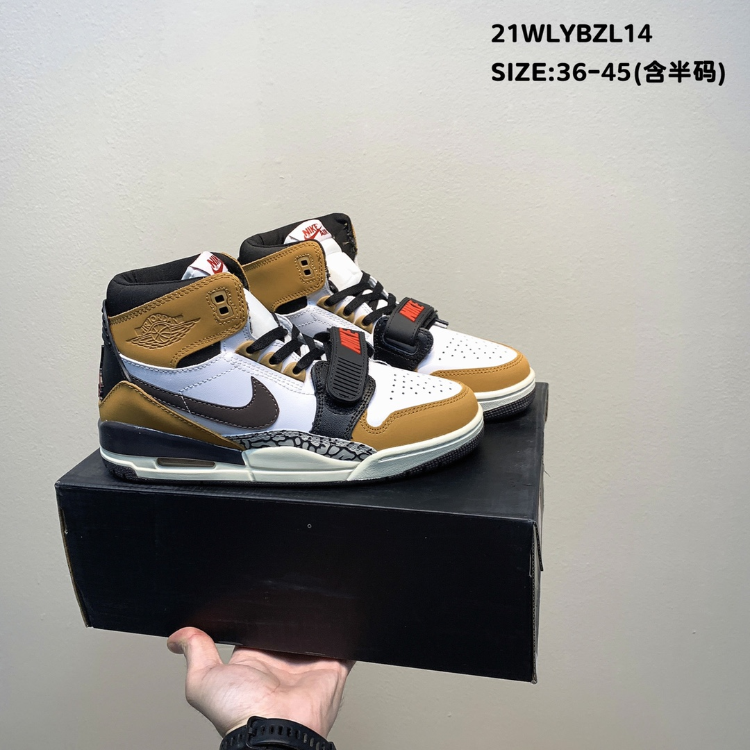Air Jordan Legacy 312 White Yellow Black Shoes