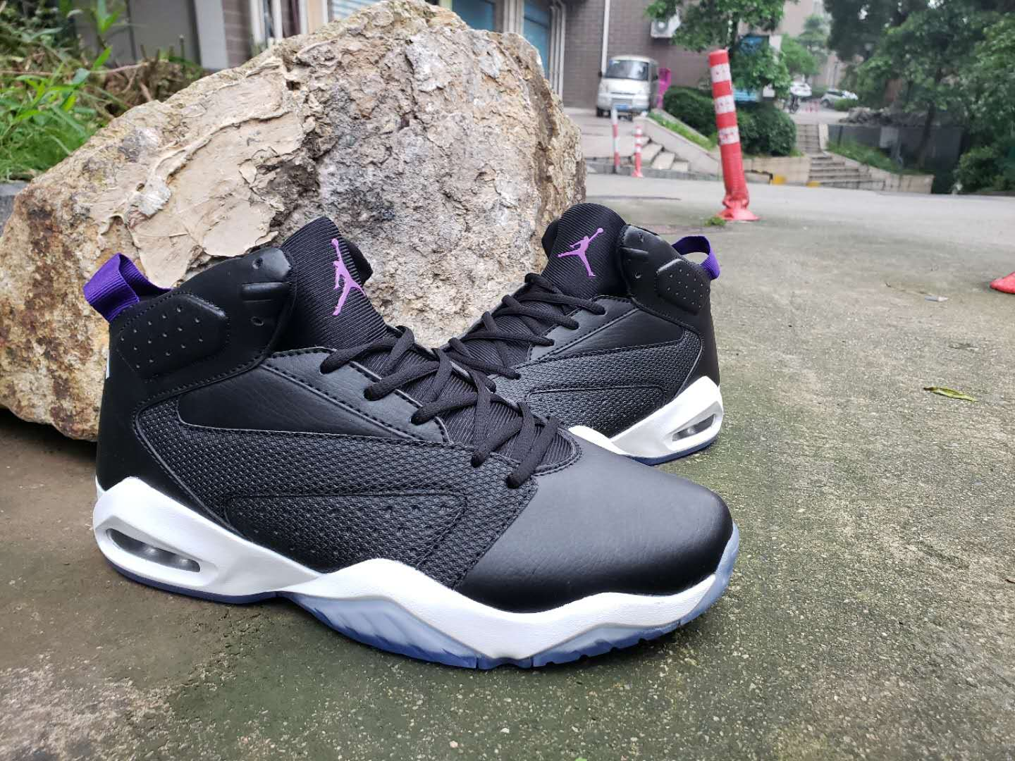Air Jordan Lift Off AJ6 Black White Puprle Shoes