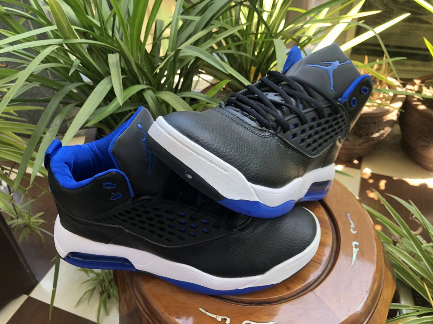 Air Jordan Maxin 30th Black Blue White Shoes