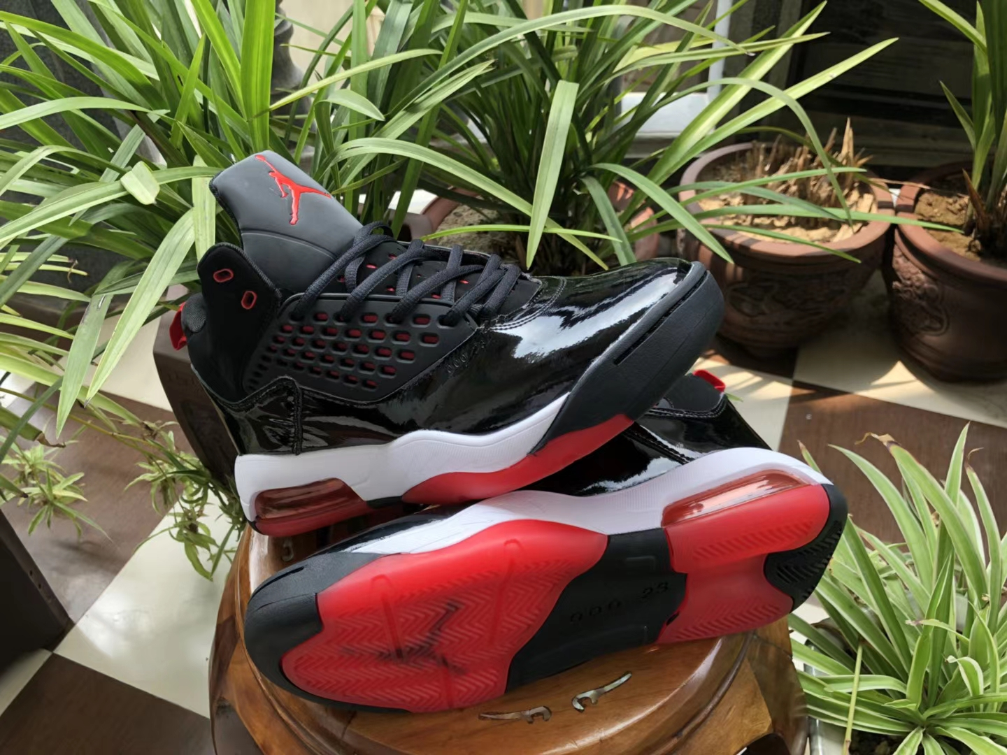 Air Jordan Maxin 30th Black White Red Shoes