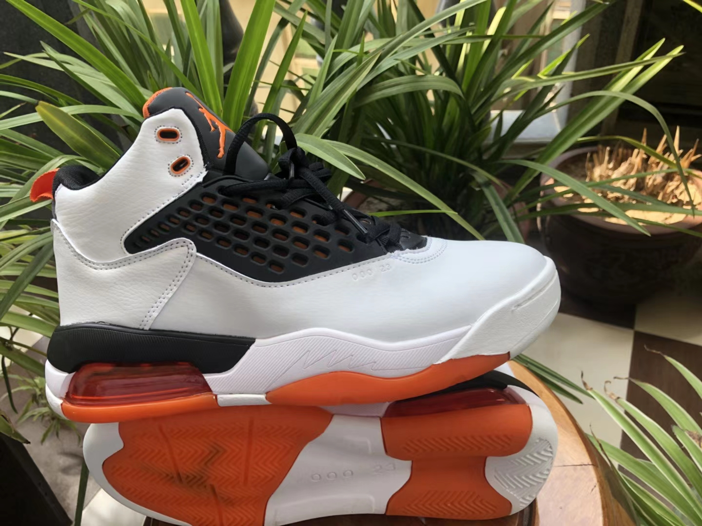 Air Jordan Maxin 30th White Black Orange Shoes