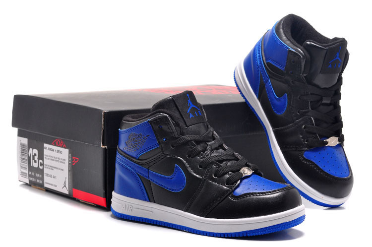 Air Jordan 1 Black Blue White For Kids
