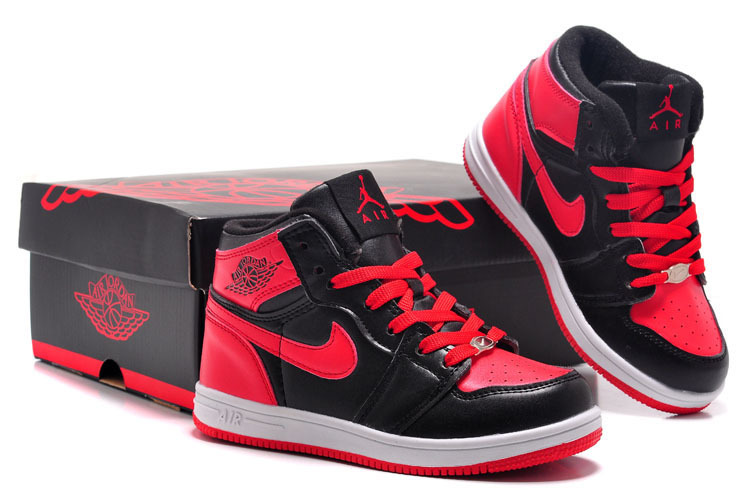 Air Jordan 1 Black Red White For Kids