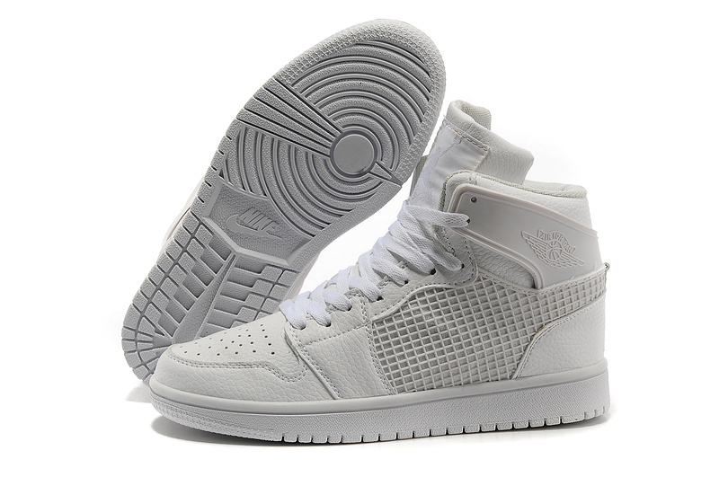 Air Jordan 1 High All White Shoes