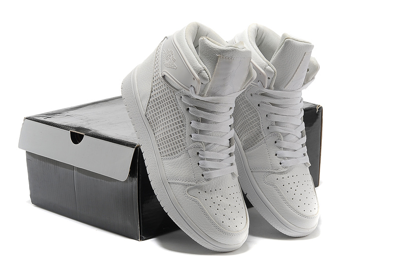 pretty nice b7338 95bf1 Air Jordan 1 High All White Shoes [AAJ501] - $75.00 ...