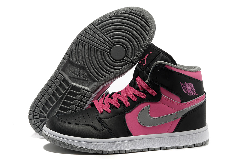 Air Jordan 1 High Black Pink White Shoes
