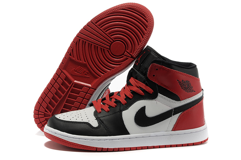 Air Jordan 1 High Black White Red Shoes