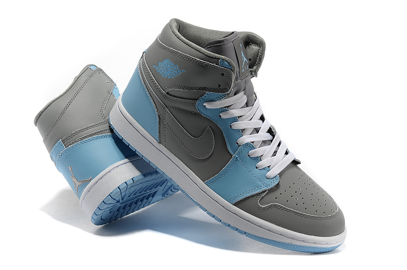 Air Jordan 1 High Grey Blue White Shoes