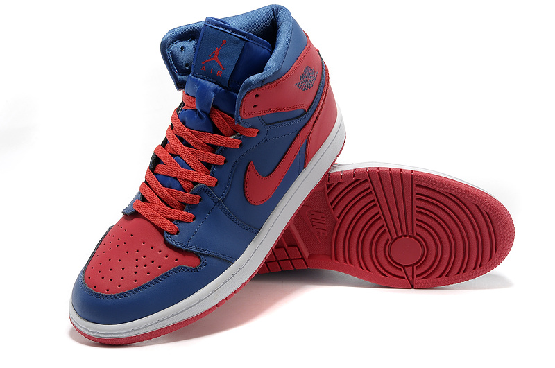 Air Jordan 1 High Red Blue White Shoes