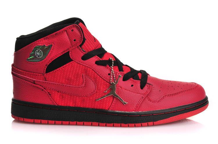 Air Jordan 1 Inserted Air Cushion Red Black Shoes