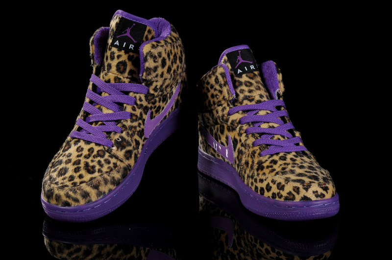 Air Jordan 1 Leopard Purple For Kids