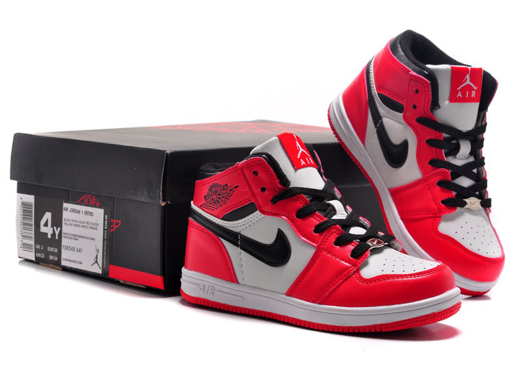 Air Jordan 1 Red White Black For Kids