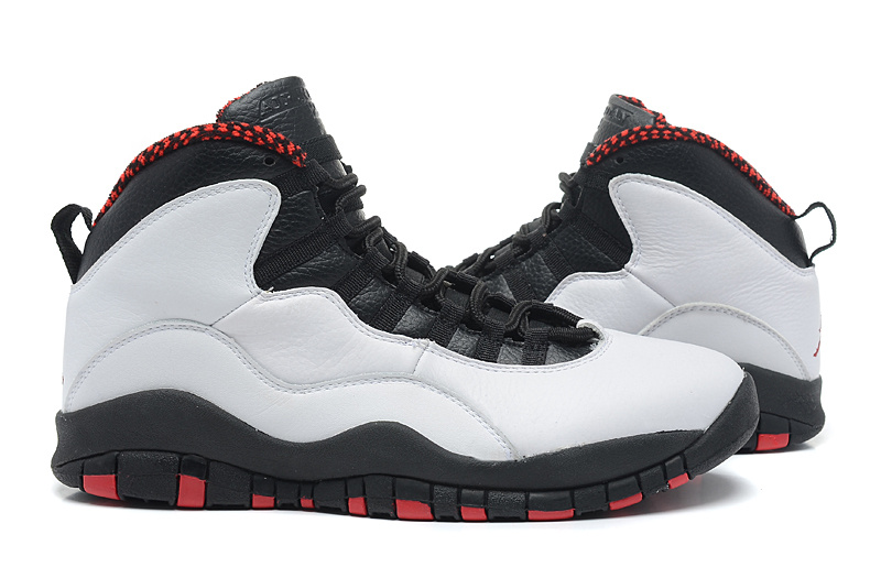 New Arrival Jordan 10 Grey Black Red Shoes