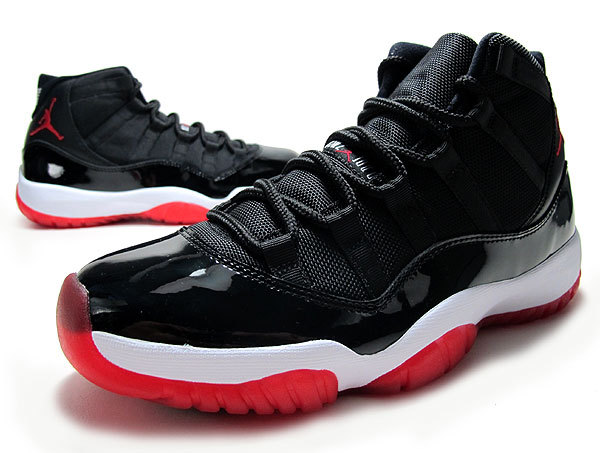 Air Jordan 11 Retro Bred Black Red Shoes