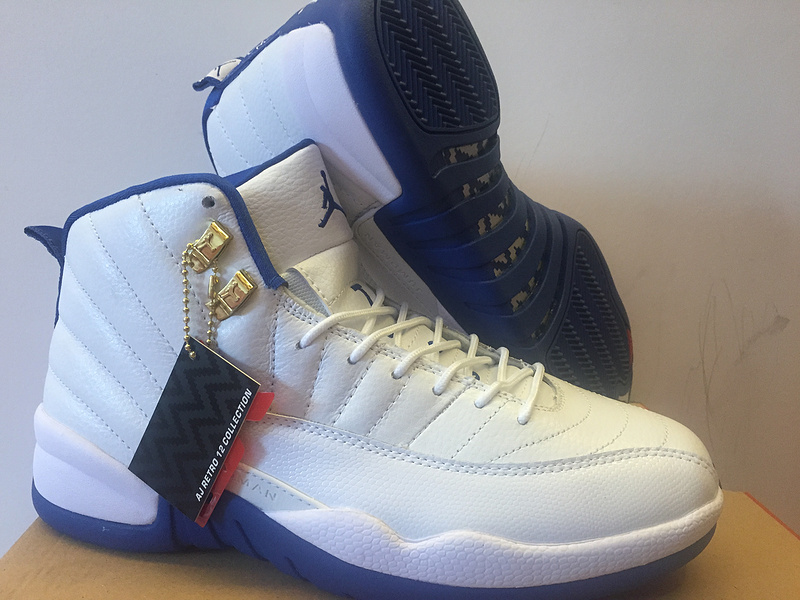 Air Jordan 12 OG UNC White Blue Shoes