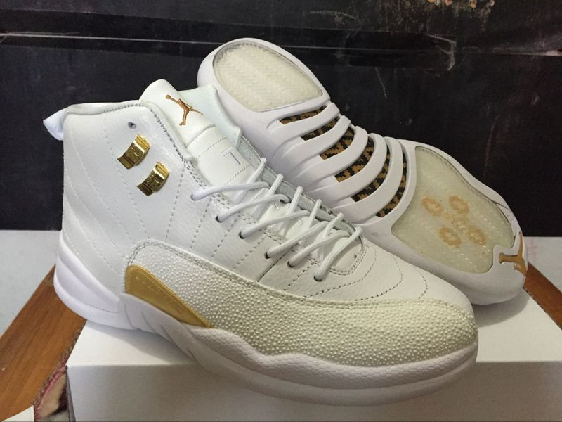 af20a9676c1 2016 Air Jordan 12 OVO White Gold Shoes