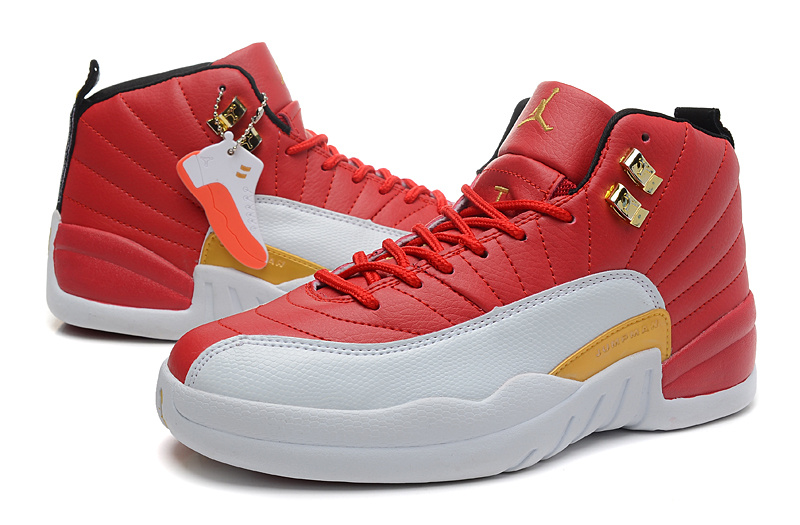 timeless design 31a99 076ff Air Jordan 12 Red White Orange For Women [NEWEST249 ...