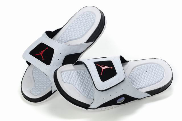 Air Jordan 13 Slipper White Black Red