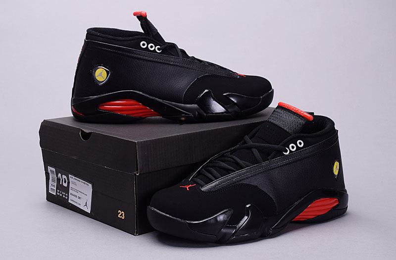 Air Jordan 14 Low 30th Black Red Shoes