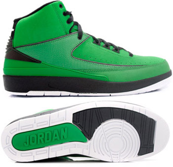 Jordan 2 Retro Green Chrome