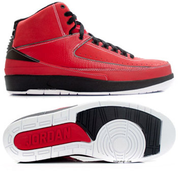 Jordan 2 Retro Red Black Chrome