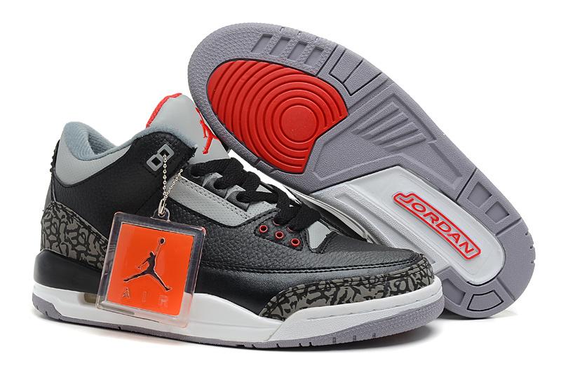 f539dea1c4d1 2013 Jordan 3 Hardback Black Grey Cement Shoes Cheap 2013 Jordan 3 ...